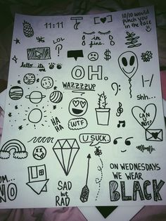 diy, doodle, drawing, tumblr, notebook doodle