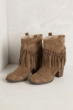 Knotted Fringe Booties