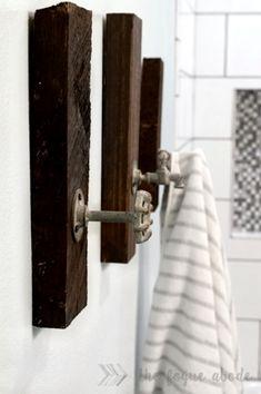 Like These Industrial DecorIdeas? Visit Us For More Industrial Bathroom Creations Diy Bathroom, Industrial Bathroom Design, Industrial Bathroom, Bathroom Towels, Industrial Bathroom Decor, Diy Bathroom Design, Diy Towels, Bathroom Design, Diy Towel Rack