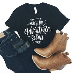 Adventure Shirt - Camping Shirt - Hiking Shirt - Travel Shirt - Mountain Shirt - Adventure - Moutains - Adventure Awaits - Gift for Her