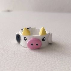 Fimo Ring, Polymer Clay Ring, Polymer Clay Crafts, Diy Crafts Clay, Diy Clay Rings, Crea Fimo, Clay Art Projects, Cute Clay, Ring Crafts