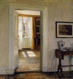 Carl Holsoe - Interior with Garden