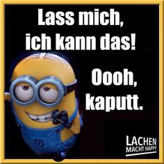 Lachen Macht Happy, Best Quotes, Funny Quotes, Minion Humor, Memes, Lol, Cartoon, Thoughts, Sayings