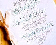 Hand Lettered Invitation Suite weddings by LavenderCalligraphy