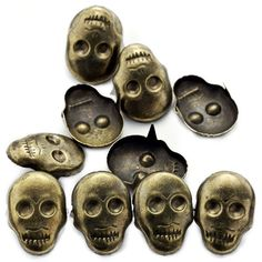 AutoM OEM Bronze Color DIY 100pcs Punk Style Skull Head Fashion Design Studs Rivet Spike Leathercraft Nailheads >>> Find out more about the great product at the image link.