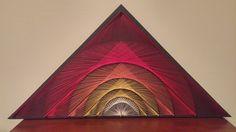 Geometric Sunrise String Art by JellyStringDesigns on Etsy https://www.etsy.com/listing/508696235/geometric-sunrise-string-art
