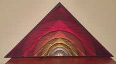 Geometric Sunrise String Art by JellyStringDesigns on Etsy https://www.etsy.com/listing/508696235/geometric-sunrise-string-art