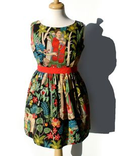 Mexican Frida Vintage Inspired Dress / Day of by VintageGaleria