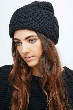 Cheap Monday Diagonal Beanie in Black - Urban Outfitters