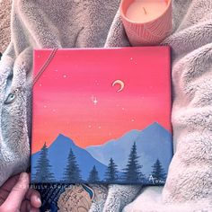 Small Canvas Paintings, Easy Canvas Art, Small Canvas Art, Cute Paintings, Mini Canvas Art, Acrylic Painting Canvas, Diy Canvas, Canvas Painting Tutorials, Diy Painting