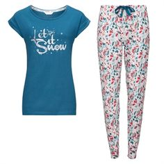 Pjs of comfort and joy, whether it's for the night before Christmas or for that post-feast flopping. ABOUT ME Jogger-style bottom and slogan top. Avon Fashion, Christmas Pajamas, Christmas Gifts, Winter's Tale, Pjs, Nightwear, Pajama Pants, Clothes For Women, Sleep