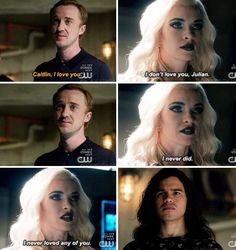 """I don't love you, Julian. I never did. I never loved any of you"" - Kiler Frost, Julian and Cisco #TheFlash"