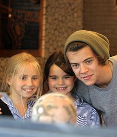 Harry with two fans