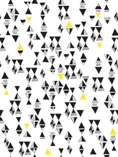 Hygge & West   Triangles (Yellow/Black) Tile