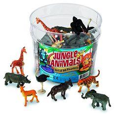 Learning Resources Jungle Animal Counters, Set of 60 - Action & Toy Figures Zebras, Digimon, Jungle Party, Jungle Theme, Safari Party, Jungle Safari, Circus Party, Safari Game, Safari Wedding