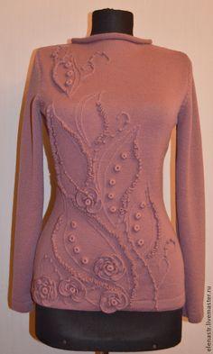 """Кофты и свитера ручной работы. Ярмарка Мастеров - ручная работа. Купить Пуловер """"Розовая дымка"""". Handmade. Однотонный, нарядный пуловер"""