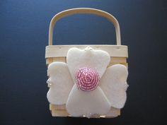 Flower Girl Basket Wedding Pink Ivory by ArtisanFeltStudio on Etsy