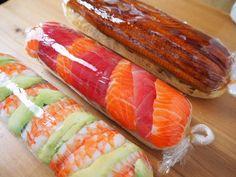 sushi rolls homemade / sushi rolls + sushi rolls homemade + sushi rolls types of + sushi rolls recipe + sushi rolls easy + sushi rolls videos + sushi rolls without seaweed + sushi rolls photography Oyster Recipes, Asian Recipes, Healthy Recipes, Homemade Sushi Rolls, Cooked Sushi Rolls, Sushi Mat, Sushi Sushi, Yogurt Curry, Sushi Roll Recipes