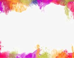Color painting watercolor splash background PNG and Clipart