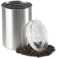 Store your coffee in style!  Keeps beens fresh.  Airscape Coffee Canister - Coffee Accessories - Lizzy's Fresh Coffee #coffee #storage $29.95