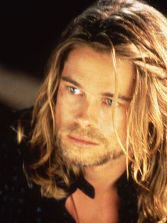 Brad Pitt - Legends of the Fall. I have a limited edition print of this with a movie poster in frame. It's lovely.