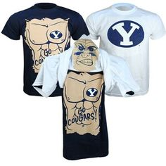 BYU Cougars Youth Flip Face Tee