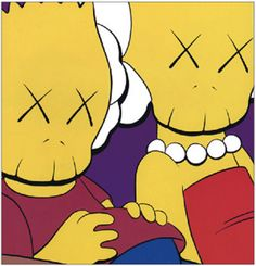 kaws kimpsonsMore Pins Like This At FOSTERGINGER @ Pinterest