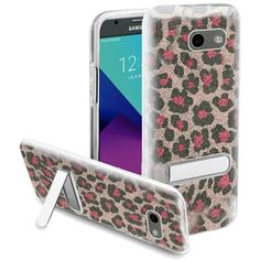 Insten Leopard Hard Snap-on Case Cover with Stand For Samsung Galaxy Amp Prime 2/ Express Prime 2/ J3