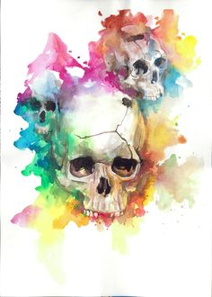 Watercolors by Walter Plus, via Behance