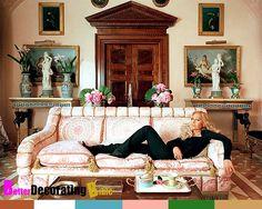 Donatella Versace Home | Celebrity Homes, Donatella Versaces Milan Apartment, Decor, Empire ...