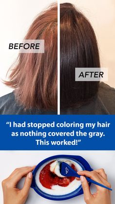 "Ditch the generic drugstore box and try this new DIY hair color: ""It was the exact hair color I was looking for but could not find. That in between color that you just can't get from store bought colors. Diy Shampoo, Shampoo Bar, Organic Shampoo, Diy Hair Dye, Dyed Hair, Diy Haarfärbemittel, Hair Colour Design, Curly Hair Styles, Natural Hair Styles"