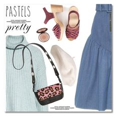 """""""So Sweet: Pastel Sweaters"""" by paculi ❤ liked on Polyvore featuring Rejina Pyo, Rebecca Taylor, StreetStyle, casual, plaid, clogs and pastelsweaters"""