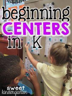 how to start centers in kindergarten