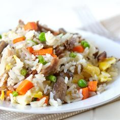 Pork Fried Rice | This is a quick and easy way to enjoy stir-fried rice with pork and vegetables at home.