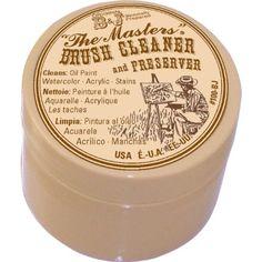Brush Cleaner & Preserver-1 oncia del maestro. Limpiar pinceles