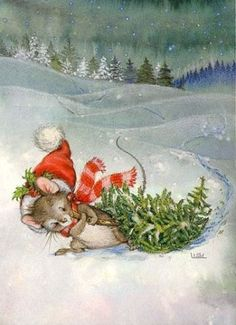 Lisi Martin, Christmas postcard 10 x Finland Christmas Scenes, Noel Christmas, Christmas Clipart, Christmas Animals, Vintage Christmas Cards, Christmas Printables, Christmas Greetings, Vintage Cards, Winter Christmas