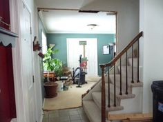 knock down staircase wall