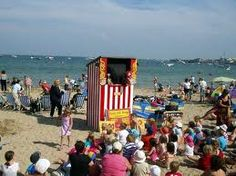 The great British seaside and Punch and Judy shows, British Family, British Seaside, Great British, Seaside Beach, Beach Huts, Punch And Judy, Beautiful Places To Travel, Amazing Adventures, Lake District