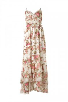 This is my white dress (minus the floral, obviously). Just a flowy white maxi dress.
