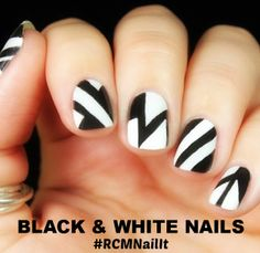 BLACK & WHITE NAILS #RCMNailIt
