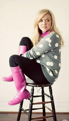 Love the pink Hunters Fall Winter Outfits, Autumn Winter Fashion, Winter Wear, Pink Hunter Boots, Preppy Style, My Style, Hunter Outfit, Passion For Fashion, Fasion