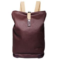 Brooks Canvas & Leather Backpack (Plum)