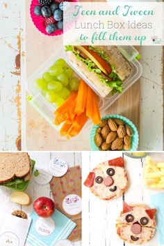 Great school lunch ideas for teens and tweens to fill them up and keep them full. I like some of the healthy and easy recipes, too. They work for the whole family which makes lunch with school at home easier for everyone.    #BacktoSchool #SchoolLunches #LunchIdeas #LunchBox Healthy Gluten Free Recipes, Super Healthy Recipes, Healthy Chicken Recipes, Baby Food Recipes, Easy Recipes, Lunch Recipes, Healthy School Lunches, Healthy Meals For One, Easy Mexican Dishes