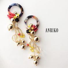 ANRIKOおおぶりデザインピアス・イヤリング | ハンドメイドマーケット minne