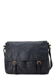 Faux Leather Messenger Bag   FOREVER21 - 1000083339