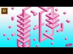 How to Draw 3D Isometric Shapes Using a Hex Grid in Adobe Illustrator Tutorial - YouTube