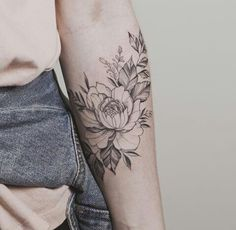 Beautiful peony by tritoan ly. beautiful peony by tritoan ly flower tattoo arm New Tattoos, Body Art Tattoos, Small Tattoos, Sleeve Tattoos, Tatoos, Girly Sleeve Tattoo, Floral Tattoo Design, Flower Tattoo Designs, Tattoo Designs For Women
