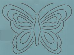 """Butterfly #1- 7"""" - The Stencil Company"""
