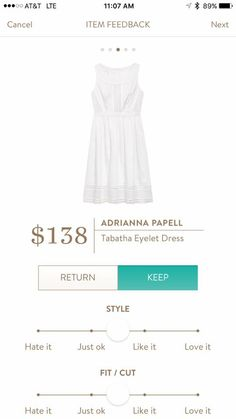Adrianna Papell | Tabatha Eyelet Dress -- love a white cotton dress! The eyelets are so pretty!