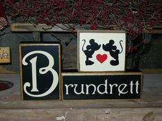 Primitive Mickey & Minnie Mouse Custom Personalized Family Last ...